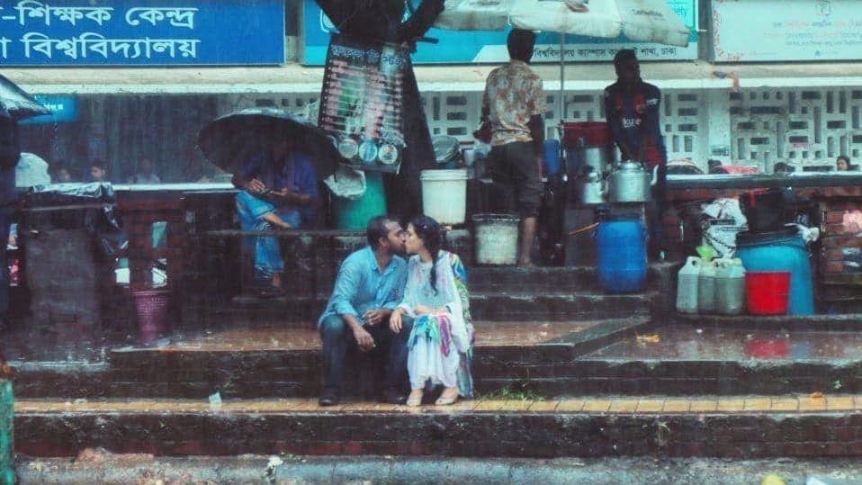 kyss i regn